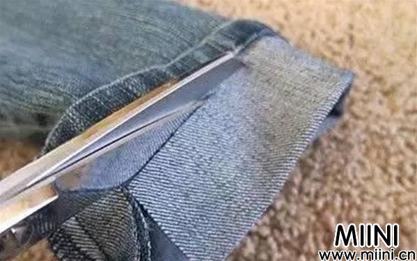 破洞牛仔裤的做法图解教程