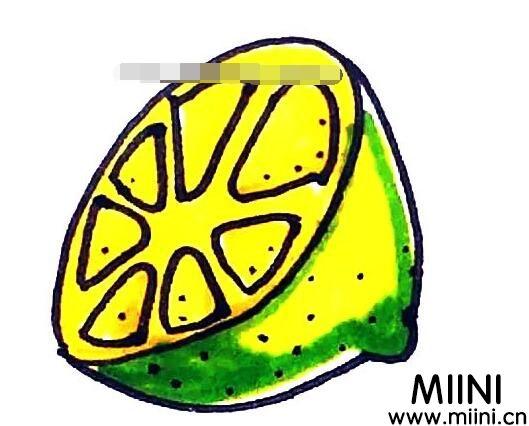 柠檬怎么画?柠檬的画法教程