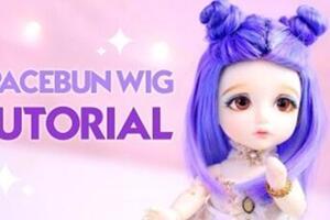 用毛线给bjd娃娃制作一个头发的步骤教程
