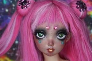 bjd娃娃改妆个性妆面的过程