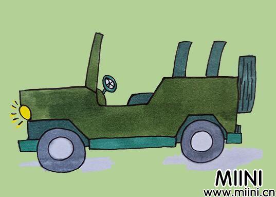 吉普车简笔画怎么画?吉普车简笔画步骤教程