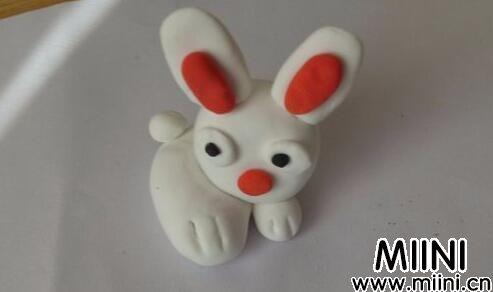 儿童粘土手工制作小白兔教程