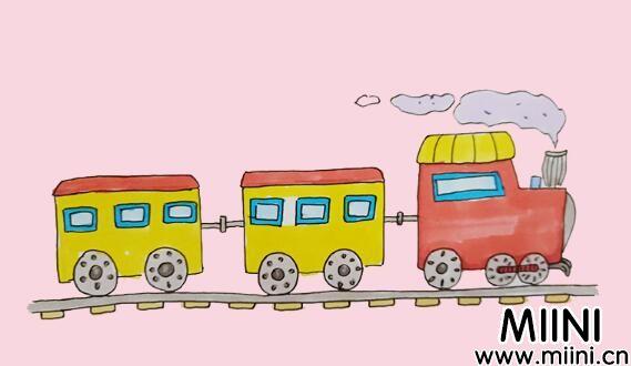 小火车简笔画步骤教程