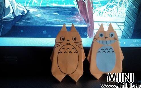 呆萌的龙猫动物折纸教程