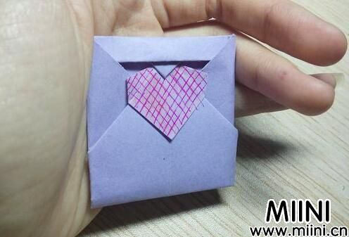 爱心花式信纸折纸步骤教程