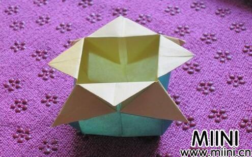 漂亮的水果篮折纸步骤教程