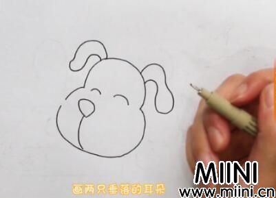 小狗简笔画怎么画?小狗简笔画步骤教程
