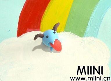超轻粘土制作可爱的卡通小小牛头