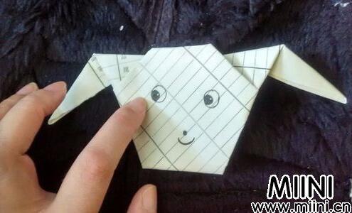 小狗头手工折纸教程