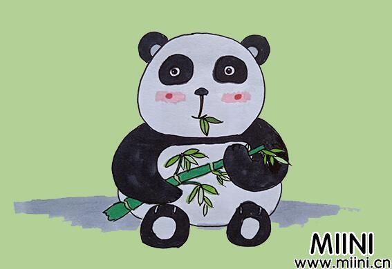 熊猫简笔画步骤教程