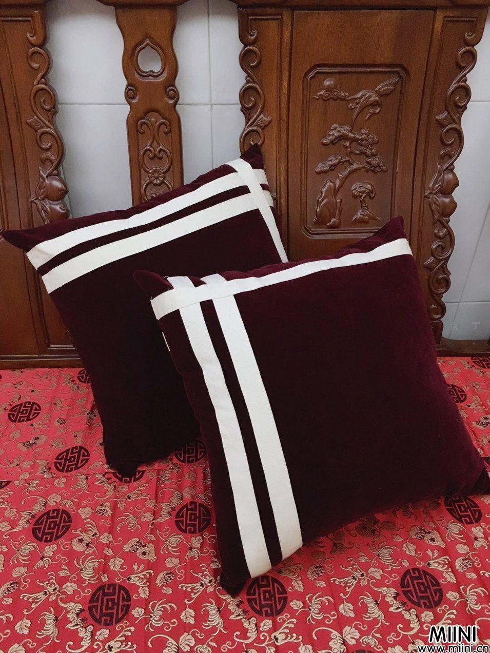 手工布艺制作一对抱枕教程