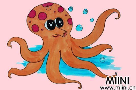 章鱼简笔画步骤教程