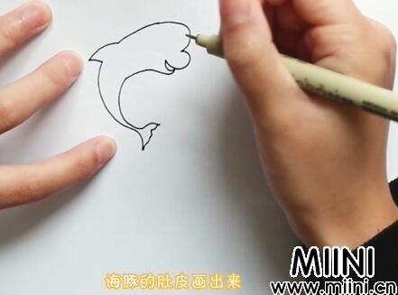 海豚简笔画怎么画?海豚简笔画步骤教程