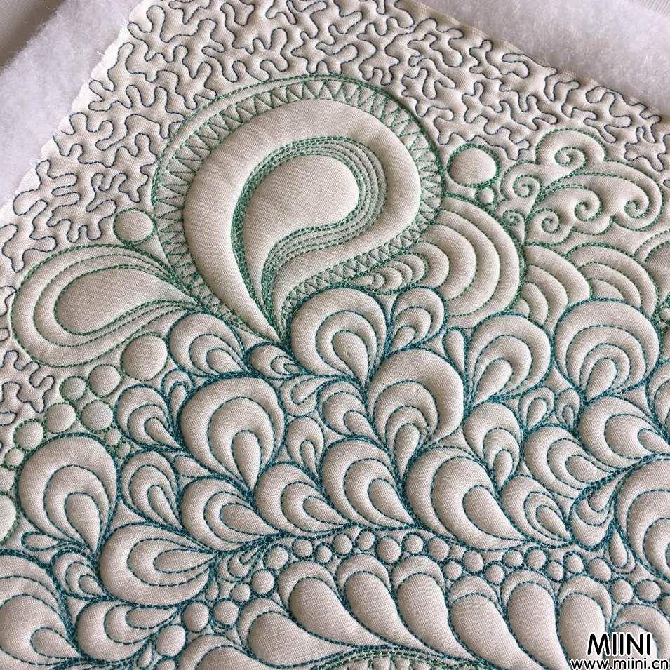 手工布艺,布上缠绕画步骤图解