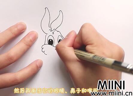 兔子怎么画?画兔子步骤图详解