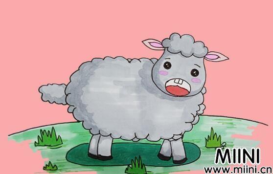 小绵羊简笔画步骤教程