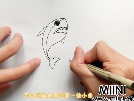鲨鱼简笔画怎么画?鲨鱼简笔画步骤教程