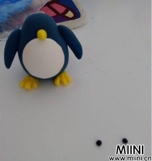 用超轻粘土制作可爱的企鹅小绅士G