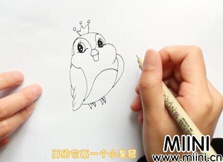 小鸟简笔画怎么画?小鸟简笔画步骤教程