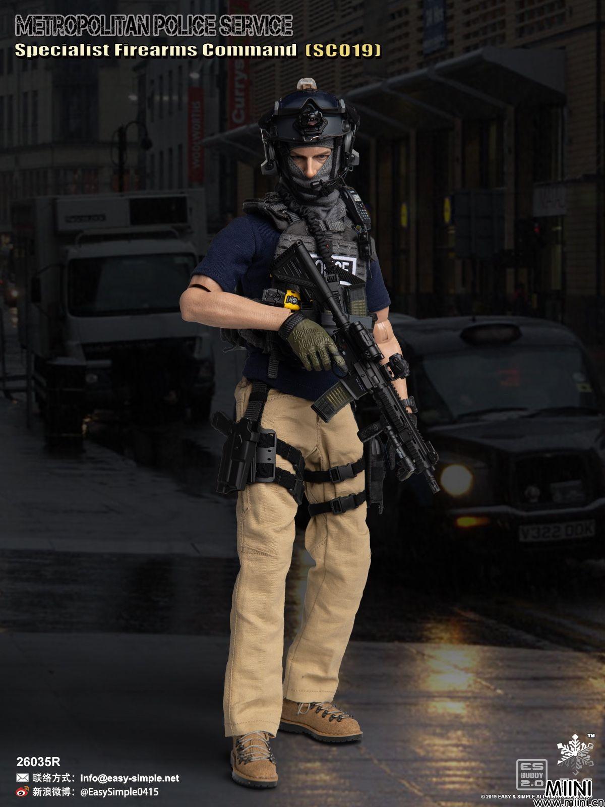 6分兵人娃娃英国特警SCO19