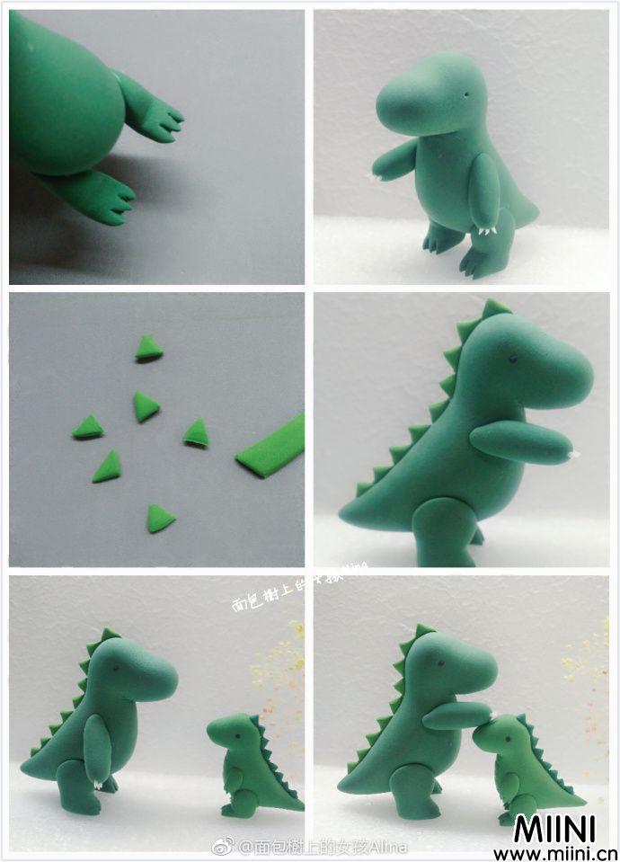 超轻粘土可爱恐龙教程方法教学