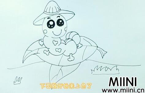毛毛虫怎么画?毛毛虫画法步骤教程