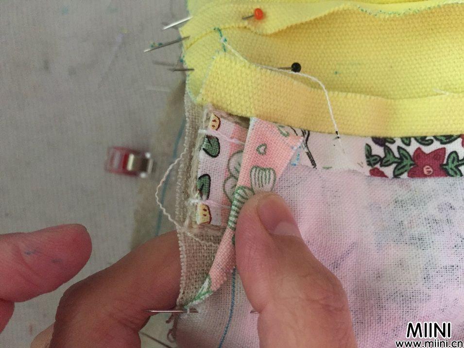 布艺手工做一个小手提袋步骤教程