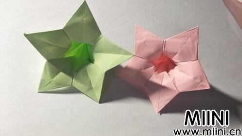 儿童手工五角星花折纸图解教程