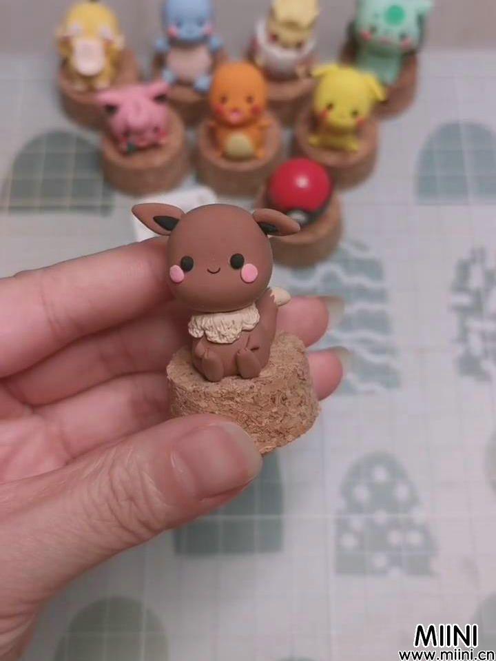 可爱粘土宝可梦伊布的制作教程