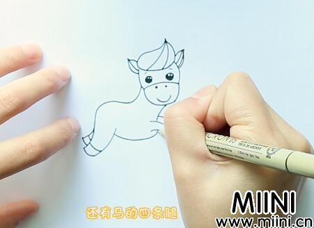 马的简笔画怎么画?马的简笔画步骤教程