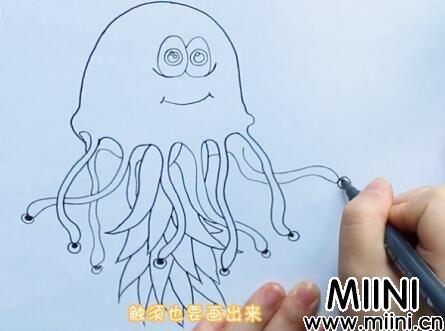 章鱼简笔画怎么画?章鱼简笔画步骤教程