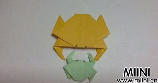 儿童手工小螃蟹折纸步骤教程
