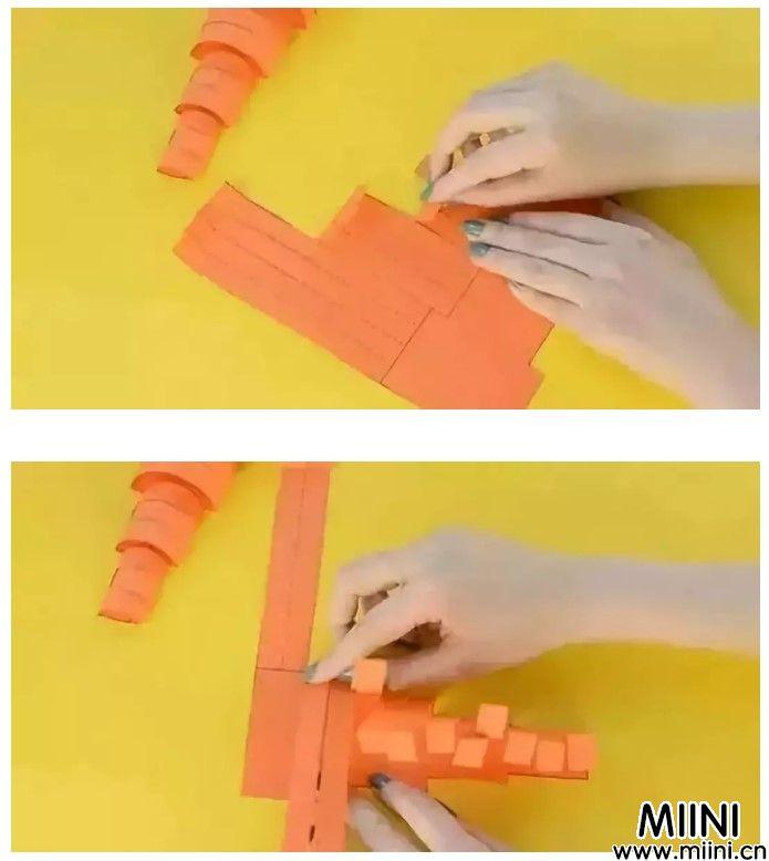 幼儿园手工制作,卡纸胡萝卜教程
