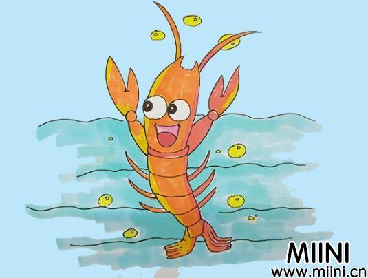 小龙虾简笔画步骤教程