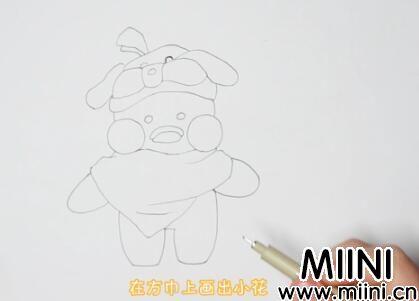 小黄鸭简笔画怎么画?超萌小黄鸭简笔画步骤教程