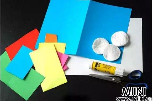 卡纸手工教学,爱心雨制作教程