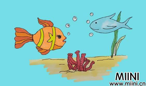 海底世界简笔画步骤教程