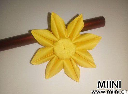 太阳花向日葵折纸步骤教程