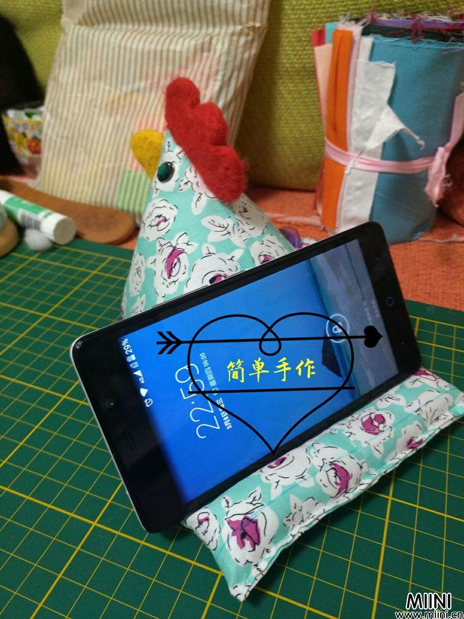 手工布艺可爱小鸡手机支架步骤图解