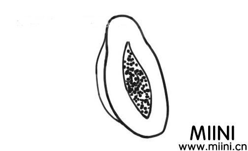 木瓜的简笔画步骤教程
