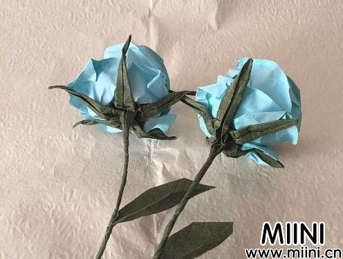 简单的玫瑰叶子折纸教程