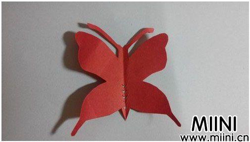 儿童剪纸蝴蝶步骤教程
