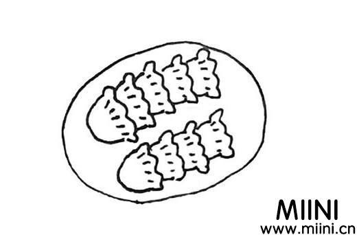 饺子怎么画?饺子的画法教程