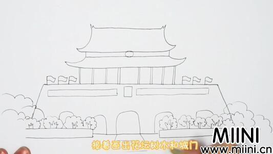 天安门儿童画怎么画?天安门儿童画步骤教程