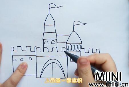 城堡简笔画怎么画?城堡简笔画步骤教程