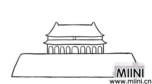 漂亮的天安门简笔画怎么画?漂亮的天安门简笔画教程