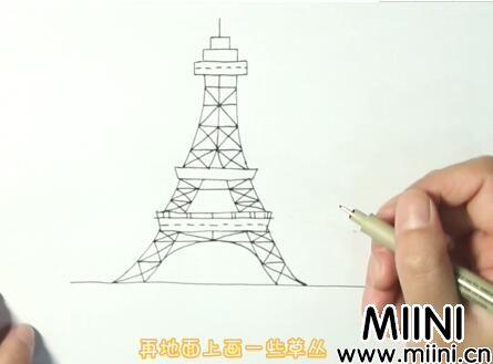 埃菲尔铁塔简笔画怎么画?埃菲尔铁塔简笔画步骤教程