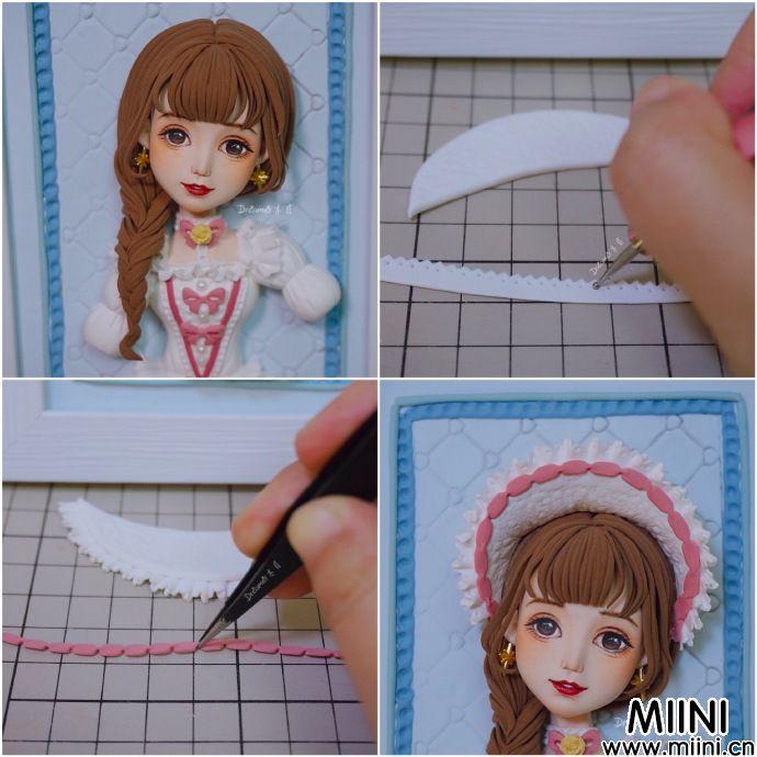 洛丽塔女孩粘土画教程