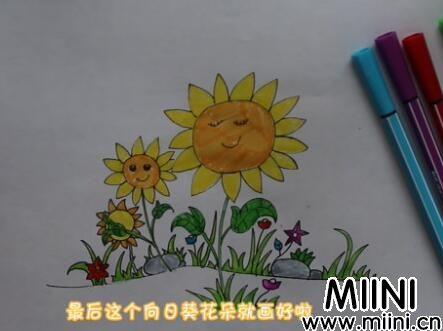 向日葵花朵简笔画怎么画?向日葵花朵简笔画步骤教程