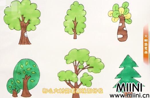 大树花简笔画怎么画?大树花简笔画步骤教程
